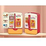 YHX Kinderküche Sprühlicht große Simulation Doppeltür Kühlschrank, Spielzeug Frühpädagogik Geschenk geeignet für Jungen und Mädchen(Color:A)