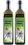 Nutrilife - Schwarzkümmelöl 2x1000ml - 100% pur, ungefiltert, kaltgepresst, vegan - Frischegarantie: täglich mühlenfrisch vom Hersteller aus echten ägyptischen Schwarzkü