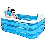 Gweat Blau Aufblasbare Badewanne die Wanne gefaltet, verdickte Erwachsenen Spa Badewanne Badefass aus Kunststoff