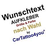 cartattoo4you® AP-02995 | WUNSCHTEXT Aufkleber Text selbst gestalten Autoaufkleber Aufkleber Car Sticker Kleber Namen Buchstaben Schriftzug Spruch einzeilig