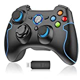 PC Gamepad, EasySMX Wireless Controller, gaming Controller für PS3/PC(Windows XP/7/8/8.1/10)/Android TV-Box, Vista