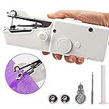 1 Set Mini-Handnähmaschine bewegliche Nähmaschine Mini-Nähmaschine Stich Personal Elektrowerkzeug zum Stoff Crafts Home Reise Usa Weiß