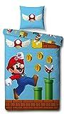 Character World Wende Bettwäsche-Set Super Mario, 135x200 cm 80x80 cm, 100% Baumwolle, Games, 100% Baumwolle, Linon