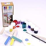 SÜDOR Holzspielzeug Farben   Malfarben fürs Spielzeug aus Holz   Acryl-Farben auf Wasserbasis für Kinder und Erwachsene   Malen auf H