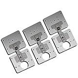 1/3 Stück Scharnier-Reparaturplatte für Schrank, Möbel, Schublade, Fenster, Edelstahlplatte, Reparaturzubehör
