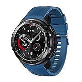 TopTen Uhrenarmband kompatibel mit Honor Watch GS Pro Band, Silikonarmband Ersatzzubehör Verstellbares Armband (Blau)