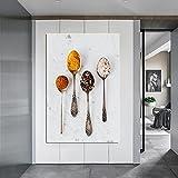 dsdsgog Moderne Kunst Stillleben Löffel Bild Wandkunst Poster Auf Leinwand Druck Malerei Für Küche Restaurant Küche Cuadros Dekor 30x50cm Rahmenlos
