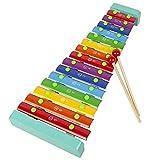 WanuigH Xylophon-Klavier Kinder Holz Xylophon mit 2 Mallet 15 Töne klopfen Klavierspielzeug Musikinstrument Interessantes Spielzeug (Farbe : Colorful, Size : One Size)