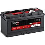 CranQ 12V Autobatterie 110Ah 1050A AGM Starterbatterie für Fahrzeuge mit Start-Stop Automatik Initial I110 wartungsfrei