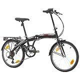 Multibrand PROBIKE Folding 20 Zoll Klapprad, Faltrad, Shimano 6 Gang, Herren-Fahrrad & Jungen-Fahrrad, Schutzbleche, geeignet ab 155 cm - 185 cm