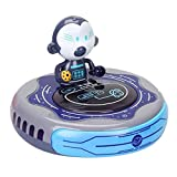 TOYANDONA Kinder Staubsauger Spielzeug Elektrische Kehrmaschine Spielzeug mit Musik Und Licht UFO Form Pretend Spielen Reinigung Spielzeug Spielen Pretend Rolle Spielen Spielzeug Keine
