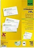 SIGEL Visitenkarte 3C, Inkjet/Laser/Kopierer, Edelkarton, 250 g/m², 85 x 55 mm, hochweiß, glatter Rand (100 Stück), Sie erhalten 1 Packung á 100 Stück