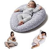 Niivetto Stillkissen Schwangerschaftskissen zum schlafen groß XXL Erwachsene mit Bezug fur Mutter und Baby von Niimo