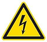 Warnzeichen - Warnung vor elektrischer Spannung - Selbstklebende Folie - SL 10