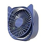 Usb-tragbare 360 ° Rotierende Mini-desktop-lüfter, Ultra-ruhig, Dreiköpfiges, Eignet Sich Einstellbar, Geeignet Für Innen-, Auto- Und Außenreisen.-blau