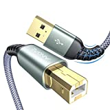 USB Druckerkabel 2M, [Niemals reißen] AINOPE Typ b USB Kabel USB A auf USB B Druckerkabel Scanner Kabel mit hoher Geschwindigkeit für HP, Canon, Dell, Epson, Lexmark, Xerox, Samsung und andere