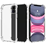 Migeec Hülle für iPhone 11 Transparent [Stoßfest] Weiche Silikon [Kratzfest] Flex TPU Bumper handyhülle Durchsichtige Schutzhülle