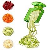 Nurch Gemüsespiralisator Gemüseschneider Handspiralschneider Spirelli Schäler Spiralschneider 2-in-1-Zucchini-Spaghetti-Zudelmacher VeggieSpiralizer Zucchini-Nudel-Hersteller Reibe Für Salat