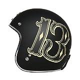 BGMKE Motorrad Retro Jet Helm, DOT Approved Adult Vintage Helm Fliegerhelm Motorrad Damen und Herren Helm Vespa Motorrad Chopper, M-XL (54-63CM)