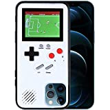 LIOWE Gameboy Hülle für iPhone, 3D Handheld Retro Spielkonsole Handy Schutzhülle mit 36 kleinen Spielen, Stoßfest Videospiel Case für iPhone 12 Pro Max
