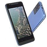 fasient1 S25 3G entsperrtes Smartphone, 5,0 Zoll Dual Card Dual Standby Ultradünnes Smartphone für Android Gesichtserkennung Fingerabdruck Entsperrt,512 MB+4GB,128 GB Erweiterungskarte (Blau)