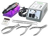 Fußpflegegerät Elektrisches Maniküre Pediküre-Set Fußpflegeset zur Hornhautentfernung mit Nagelzangen-Set zur Hand- und Fußpflege