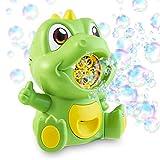 Cheeky Bubbles Seifenblasen Kinder, Automatische Seifenblasenmaschine Dino, Indoor und Outdoor Bubble Machine, Seifenblasen Nachfüllflasche Inbegriffen
