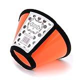 ZUOLUO Schutzkragen Halskrause Hund Kegel für Hunde Plastik Hundehalsband Kegel Kätzchenhalsband Medizinische Halsbänder für Hunde Katzenkegel orange,5