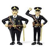 Micki & Friends 44379700 Pippi Langstrumpf Spielfiguren 2-teilig: Polizisten Kling & Klang - Puppen - Puppenhaus-Zubehör - ab 3 Jahre