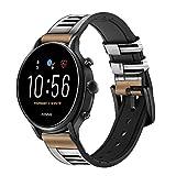 Innovedesire Keyboard Digital Piano Smart Watch Armband aus Leder und Silikon für Fossil Mens Gen 5E 5 4 Sport, Hybrid Smartwatch HR Neutra, Collider, Womens Gen 5 Größe (22mm)