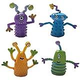 Qiekenao Fingerpuppen, Monster-Fingerlinge, Rollenspiel-Spielzeug, ungiftig, umweltfreundlich, PVC, weiches Gummi, Puzzle-Spielzeug