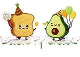 MOKIO® Pop-Up Karte [NEU!] – Avocado & Toast Party – 3D Geschenkkarte zum Geburtstag, als Gutschein oder für Geldgeschenke, lustige Klappkarte mit Umschlag