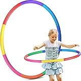 Hoola Hoop Reifen Kinder, 8 Abschnitte Hoola Hoop für Kinder Abnehmbare Fitness Hoola Hoop Reifen für Zuhause Draussen Schule Party Tanzen Fettverbrennung Tanzen Yoga, Agility-Ausrüstung für Hunde