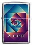 """ZIPPO – Zippo """"Patterns"""", Chrome Brushed – Benzin Sturm-Feuerzeug, nachfüllbar, in hochwertiger Geschenkbox 60005582 normal bunt"""