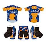 NAXIAOTIAO Radfahren Jersey, Atmungsaktive Kurzarm Jersey Set, Lätzchen Shorts Sommer Fahrradkleidung, Road Mountainbike Kleidung,B,XXL
