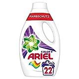 Ariel Waschmittel Flüssig, Flüssigwaschmittel, Color Waschmittel, Farbschutz, 22 Waschladungen (1.21 L)