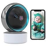 WLAN IP Kamera Babyphone HD 1080P Überwachungskamera Innen WiFi Baby/Haustier Kamera Nachtsicht,Körperverfolgung,2-Wege-Audio,APP-Alarm,iOS/Android,Bewegungserkennung,arbeitet mit Alexa 【Kamera+64G】