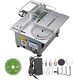 PPLAS Aluminium Miniaturtisch Saw Hohe Präzision DC 24V 7000RPM Schneidemaschine DIY Modellsägen Präzisions-Carpentry-Kettensägenschneider (Color : A)