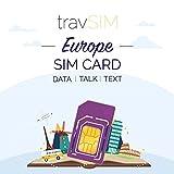 travSIM Europäische SIM-Karte (UK SIM-Karte für Europa) 60 Tage gültig - 12GB Mobile Daten - Deutschland Österreich Belgien Frankreich Schweiz Kroatien Schweden Europa UK SIM-Karte
