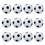 Tischfußball Kickerbälle Perfekt für Tischfußball & Tischkicker Profi Tischkickerbälle 36mm Schwarz Weiß 12 Stück
