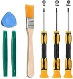 Schraubendreher-Werkzeug-Set T6 T8 T10 mit 2 Spudger-Hebelstangen, 1 Reinigungsbürste und 1 Dreieckspaddel für Xbox One Xbox 360 Controller und PS3 PS4