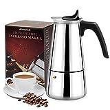 Italienische Espresso-Maschine mit 3 Kaffeelöffeln, 200 ml, 4 Tassen (1 Tasse = 50 ml)