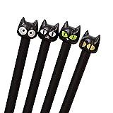 4 Stück Gel kreative süße Katze 0,5 mm liefert Schule schwarzen Stift sehr praktisch und beliebt D