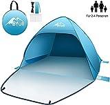 Bfull Strandmuschel mit Einer Abschließbaren Tür und UV 50 Sonnenschutz für 2-4 Personen Pop Up Strandzelt Extra Leicht W