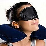 LIXHZJ 3 in 1 Reisesatz aufblasbare Halsluftkissenkissen + Augenmaske + 2 Ohrstecker Komfortable Geschäftsreise * Produkt-Nr .: WW-188