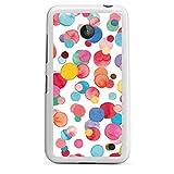 DeinDesign Silikon Hülle kompatibel mit Nokia Lumia 630 Case weiß Handyhülle Polka Dots Wasserfarbe Muster