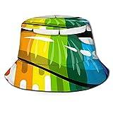 QUEMIN Hüte, Kappe mit UV-Schutz zum Angeln, Strand, Biding, OutdoorsRainbow Color Lips