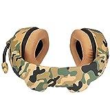 HJQL Gaming-Headset Für Ps4, 3,5-Mm-Over-Ear-Kopfhörer Mit Mikrofonrauschisolierung Für Tiefe Bässe Für Das Spiel (Camouflage)
