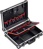 Meister Werkzeugkoffer leer - 460 x 320 x 140 mm - Individuelle Fachaufteilung - 15 Werkzeugtaschen - Mit Gummibändern - 15 kg Tragkraft - Stabiler Alu-Koffer / Werkzeugkiste / Organizer / 9095070