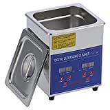 Eujgoov 2L Ultraschallreiniger, 40 KHz MH-010S Timer-Heizung Edelstahl-Reinigungsmaschine Zum Reinigen von Schmuckgläsern Uhr Kleinteile(EU-Stecker AC200‑240V)